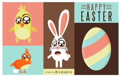 Easter Animals Illustration