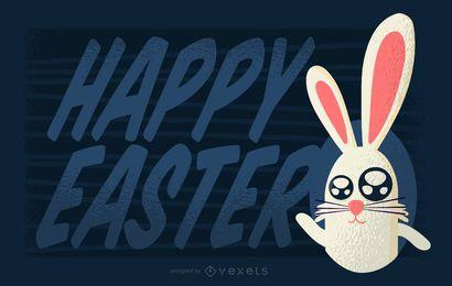Diseño de saludo de Pascua feliz