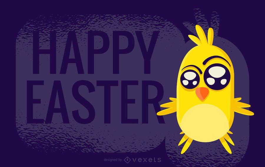 Diseño del saludo del polluelo de Pascua