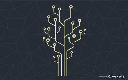 Computertechnologie-Baum-Illustration