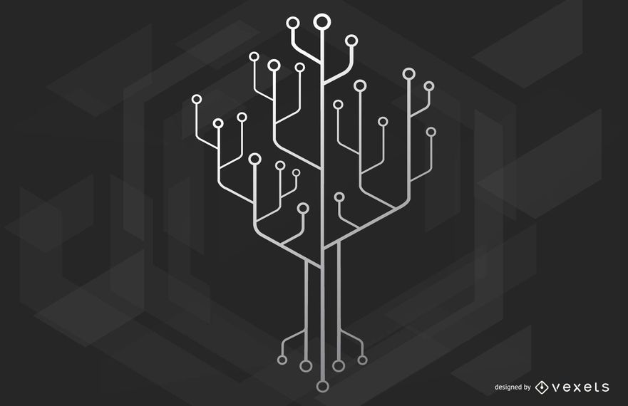 Chip Technology Tree Illustation