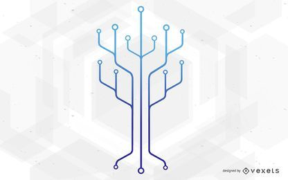 Chip Circuit Technology Tree Illustration