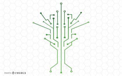 Technologie-Baum-Vektor-Design