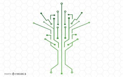 Technology Tree Vector Design