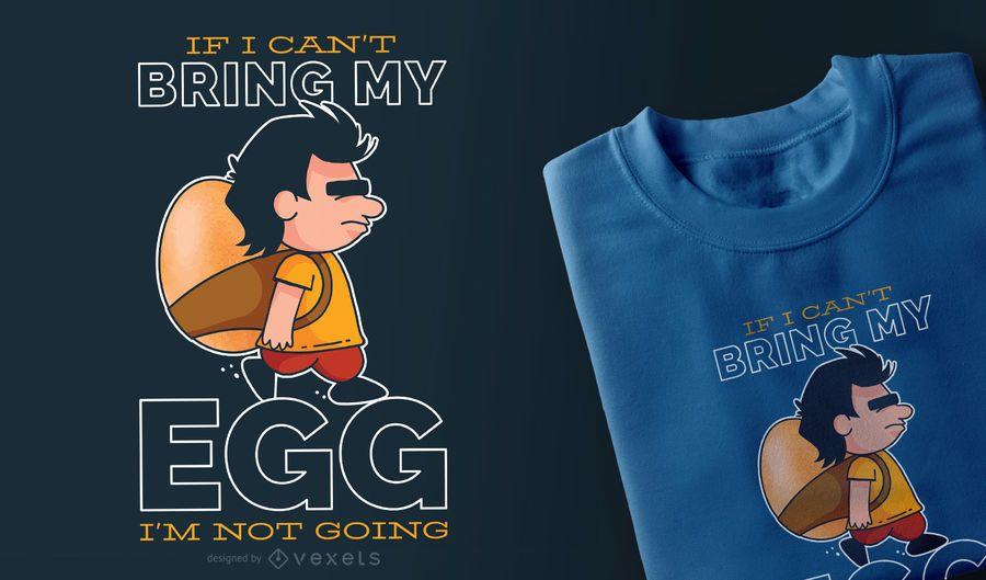 Diseño de mi camiseta de huevo