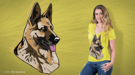 Dog German Shepherd T-Shirt Design