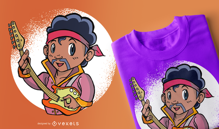 Diseño de camiseta infantil Hendrix