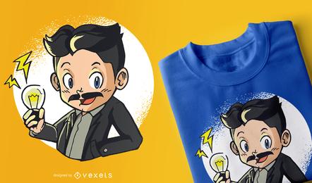 Projeto do t-shirt do miúdo de Tesla