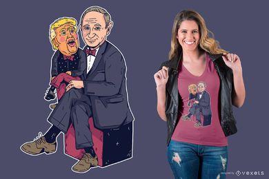 Projeto do t-shirt de Putin & de Trump