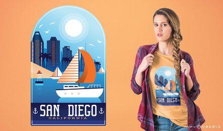 Projeto do t-shirt de San Diego