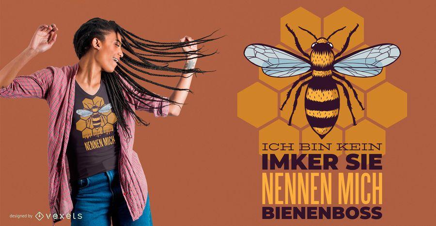 Diseño de camiseta Bienen
