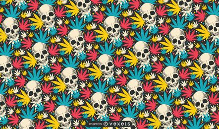 Skull Cannabis Pattern Design