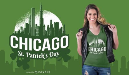Design do t-shirt do dia de Chicago St Patrick