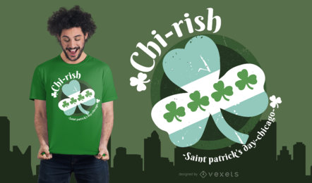 Diseño de camiseta irlandesa de Chicago