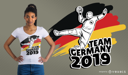 Diseño de camiseta de balonmano alemán