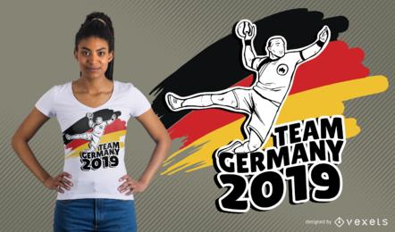 Projeto alemão do t-shirt do handball