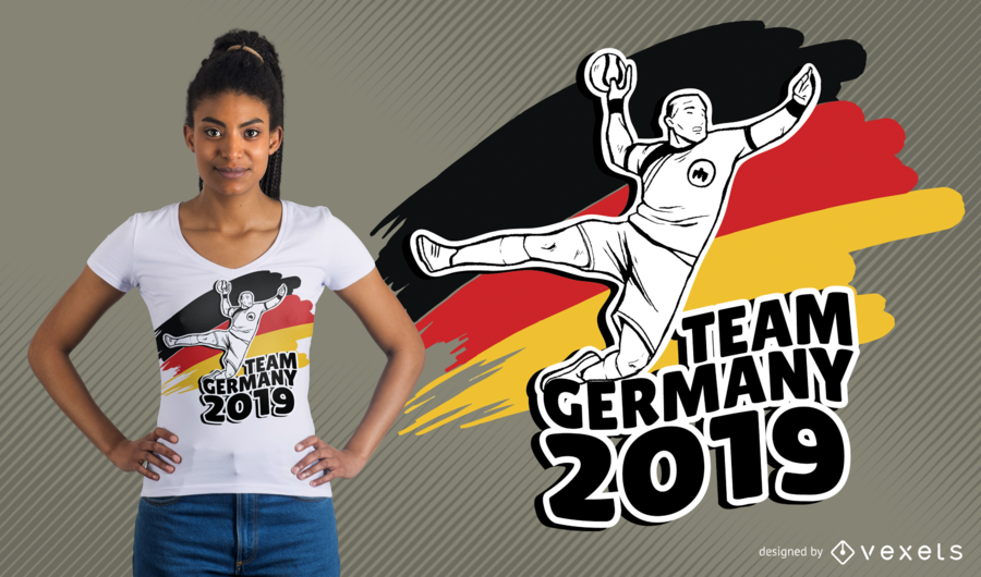 German Handball T-Shirt Design