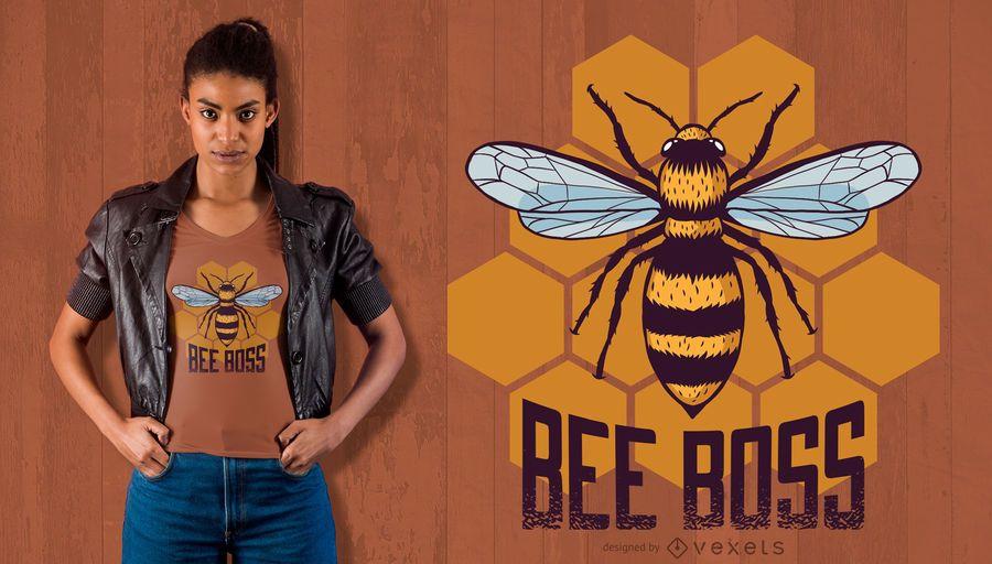 Design do t-shirt do chefe da abelha