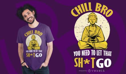 Diseño de camiseta Chill Buddha