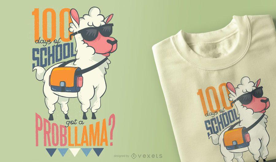 School Llama T-Shirt Design