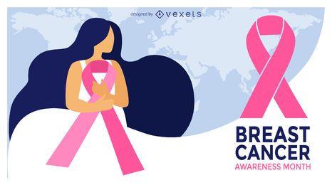 Projeto do mês da ilustração do câncer da mama