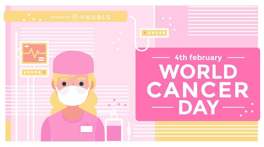 Projeto de ilustração do dia mundial do câncer