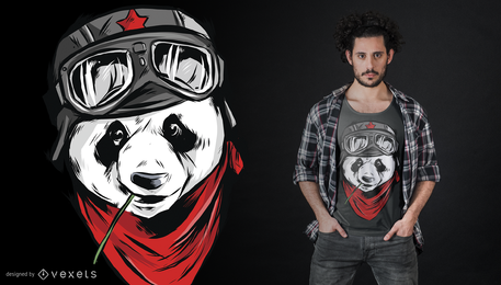 Design legal do t-shirt da panda