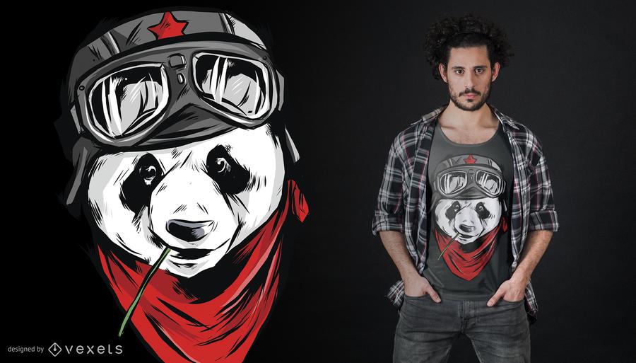 Design legal do t-shirt da panda