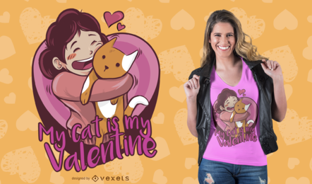 Cat Love T-Shirt Design