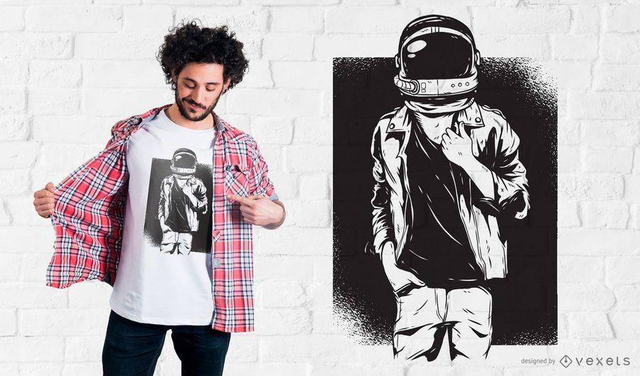 Camiseta Rock Astronaut Design