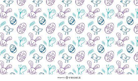 Patrón de garabatos de Pascua