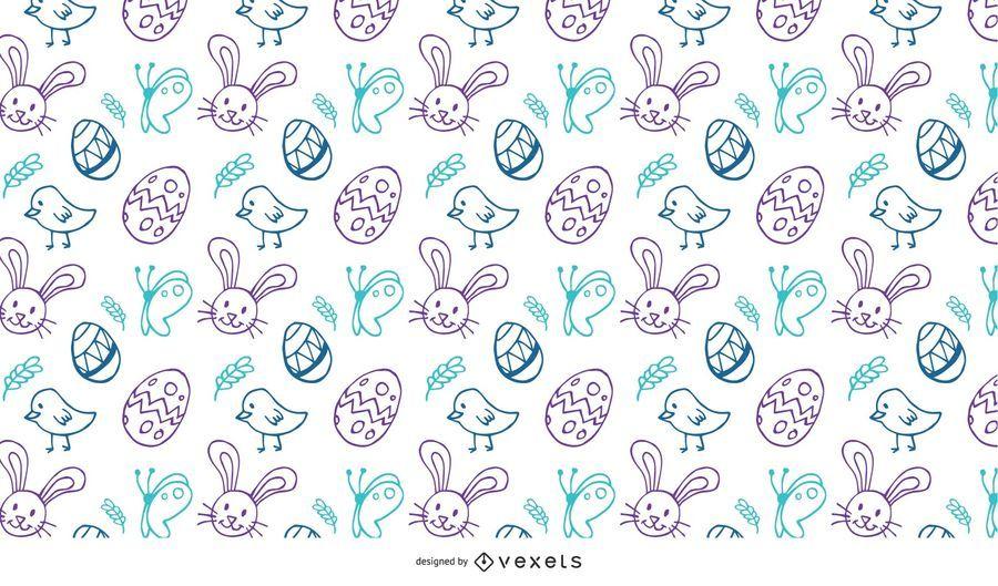 Páscoa Doodles Pattern