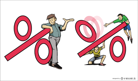 Percentage Illustration