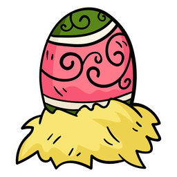 Colorido huevo de pascua illusration