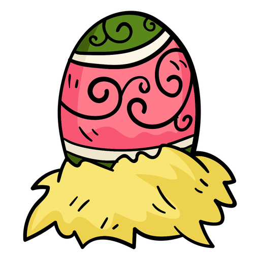 Colorful easter egg illusration Transparent PNG