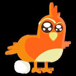 Ilustração de desenhos animados de pássaro de Páscoa