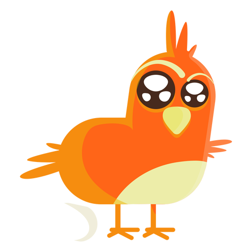 Easter bird cartoon illustration Transparent PNG