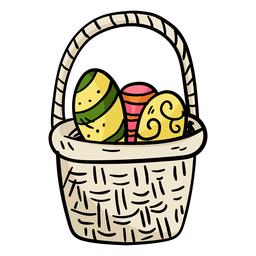 Easter egg basket illustration