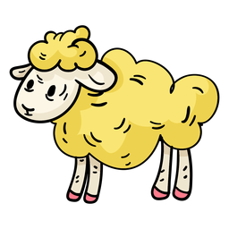 Easter sheep cartoon illustration
