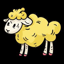 Ostern-Schaf-Karikaturillustration