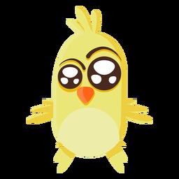 Ilustración de dibujos animados de pollito amarillo