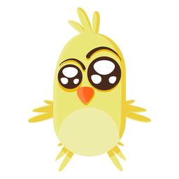 Yellow chick cartoon illustration