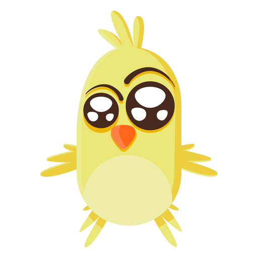 Yellow chick cartoon illustration Transparent PNG