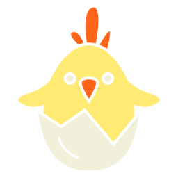 Yellow chick hatching easter vector