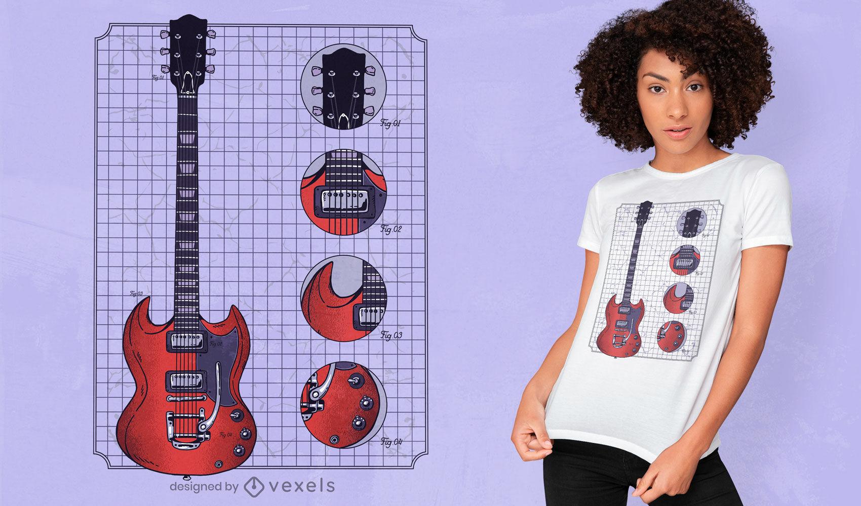 Gibson Guitar T-shirt Design
