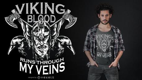 Diseño de camiseta de sangre vikinga