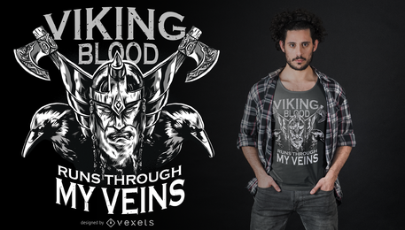 Projeto do t-shirt do sangue de Viking