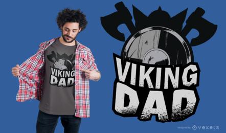 Diseño de camiseta de papá vikingo
