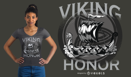 Design do t-shirt da honra de Viking