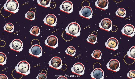 Space Dogs Pattern Design